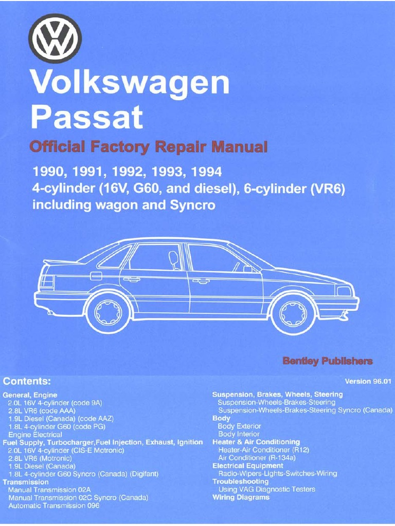 90 94 Passat Engine Lubrication System Motor Oil Volkswagen General Wiring Diagram