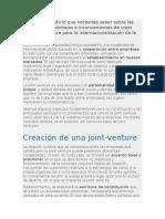 Definición y Todo Lo Que Necesitas Saber Sobre Las Joint Venture
