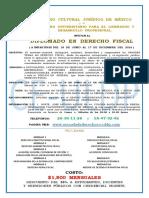 Diplomado en Derecho Fiscal Del 18-Jun Al 17-Dic Del 2016 en Oficio Crecia