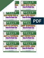 Name Tag OPD Umar 1-10