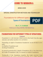 SCMT S 1 Types of Foundations
