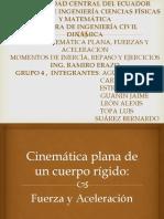 Cinemática Plana de Un Cuerpo Rígido