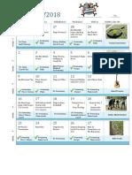 CEB Activity Schedule 2018
