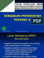 KEBIJAKAN PEMERINTAH K3