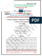 """A Study on Employee Engagement with Special Reference to Hosur Private Industries"""