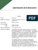 BID - Programa de Modernización de la Educación Secundaria