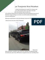 Perkembangan Transportasi Kota Pekanbaru