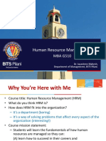 MBA G510 - Chapter 1 Introduction to HRM