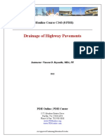 Drainage Highway Pavement