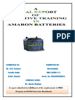 44485475 Report on Amaron Batteries Ltd