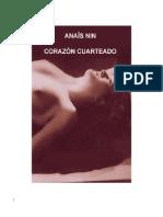 Anaïs Nin - Corazon Cuarteado