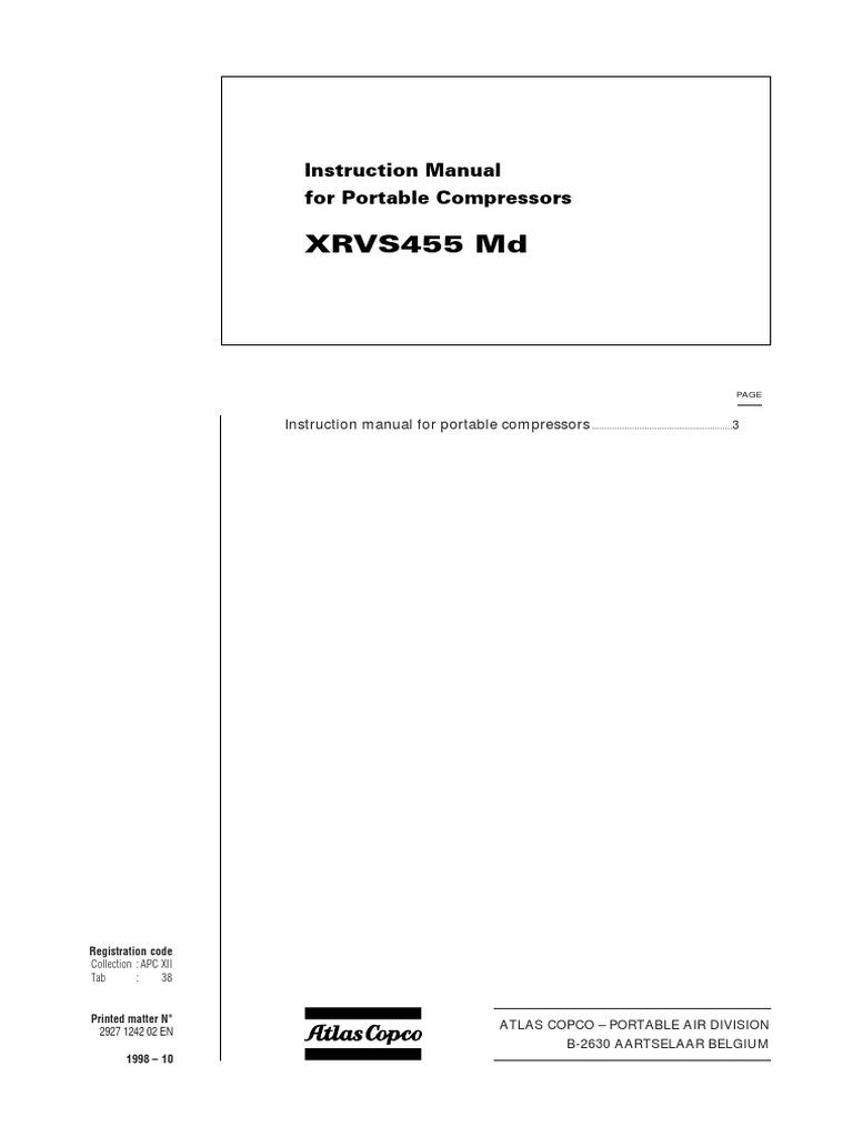 Xrvs 455 Md Inst 1998 | Valve | Safety