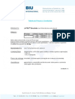 Tabela Preços - BIU 2011 - BIU Latex Emulsao