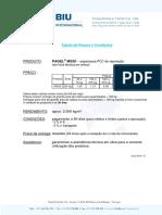 Tabela Preços - BIU 2011 - Pagel MS20