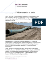 Hastelloy C276 Pipe supplier in india