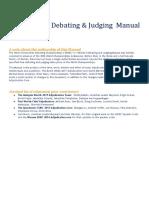 Dutch WUDC 2017 Debating Judging Manual