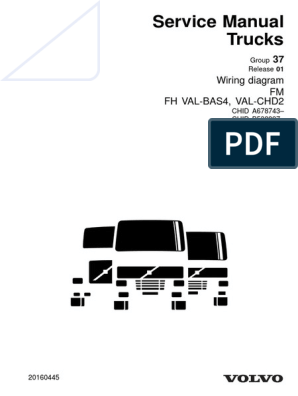 Volvo Service Manual Trucks FM FH | Electrical Connector | Electrical Wiring | Volvo Fh Version 1 Wiring Diagram |  | Scribd