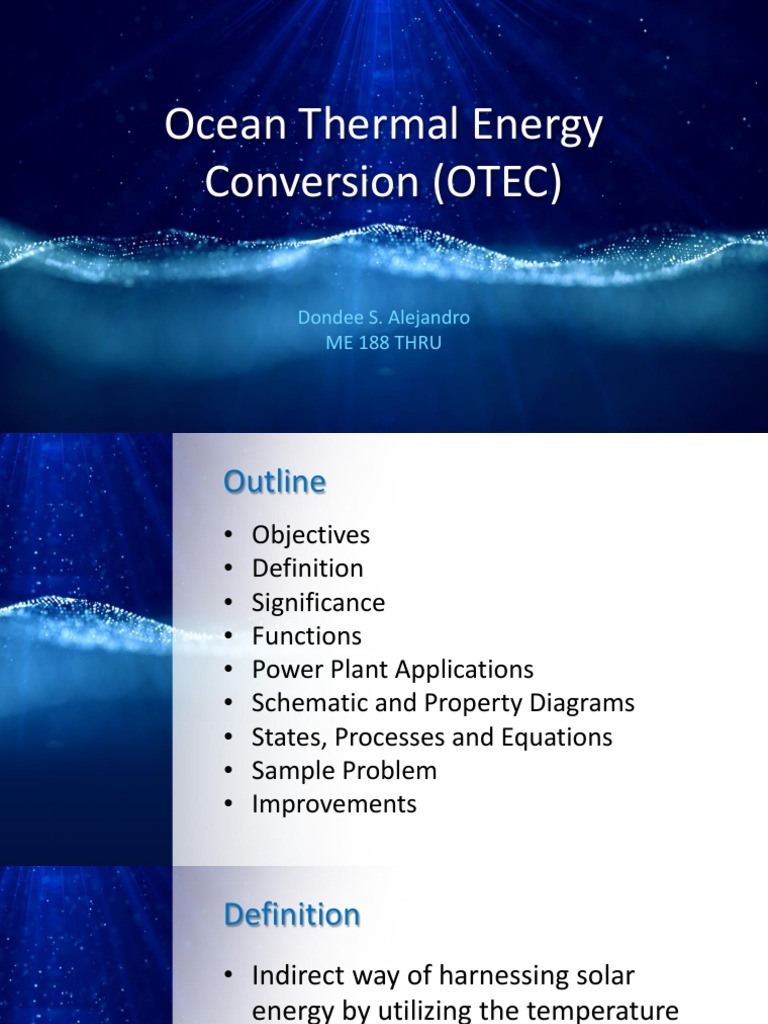 alejandro - ocean thermal energy conversion (otec) | physical
