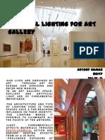Artificial lighting in Gallery
