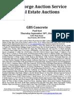 GBS Concrete Auction