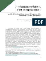 Palim Psao - L' « économie réelle », c'est le capitalisme !