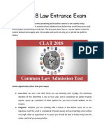 CLAT Entrance Exam Details | Law entrance exam 2018 (http://www.clearlawentrance.com)