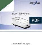 Manual DLAN 200 AVplus Es