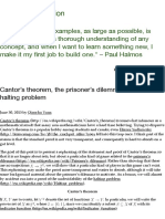 Cantor's theorem, the prisoner's dilemma, and the halting problem | Annoying Precision