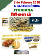 Menu Jornada Gastronomica Asturiana Sf 8-2-18