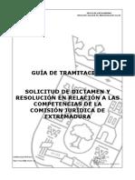 Guía de Tramitación Sobre La Comisión Jurídica de Extremadura