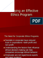 Developing an Effective Ethics Program