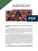 Legitimación y Legitimaciones, Una Nueva Manera de Entender La Historia Política.