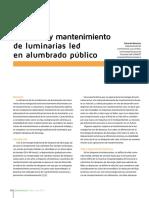 Eficiencia y Mantenimiento de Luminarias Led en Alumbrado_publico