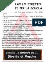 Volantino Manifestazione Stretto 2010-Catania - Lavoratori scuola