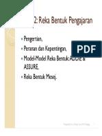 Topik 2 - Reka Bentuk Pengajaran