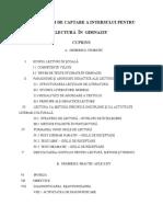 Modalități de Captare a Intersului Pentru Lectură În Gimnaziu Plan Orientativ