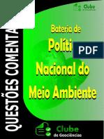 QUESTÕES POLÍTICA NACIONAL DO MEIO AMBIENTE COMENTADAS CONCURSO CLUBE DE GEOCIÊNCIAS