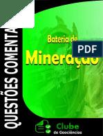 QUESTÕES MINERAÇÃO COMENTADAS CONCURSO CLUBE DE GEOCIÊNCIAS