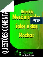 QUESTÕES MECÊNICA DOS SOLOS E DAS ROCHAS COMENTADAS CONCURSO CLUBE DE GEOCIÊNCIAS