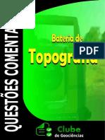 QUESTÕES TOPOGRAFIA COMENTADAS CONCURSOS CLUBE DE GEOCIÊNCIAS