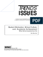 Student Motivation, School Culture, And Academic Achievement, What School Leaders Can Do