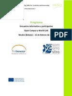 1. Programa DESCI 2o OpenCampus&WorldCafe Febrero2018