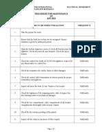 Procedure of Maintenance of 415V BUS