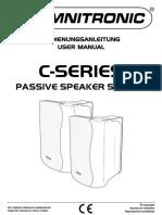 Manual de Utilizare Omnitronic C50 -Boxa pasiva