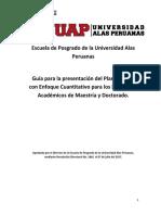 Guía Enfoque Cuantitativo - Plan de Tesis