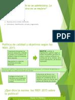 indicadores, objetivos y politica de calidad. Capacitación calidad 2016.pdf
