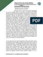 Método Apa Sexta Edición