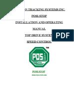 Posi-stop Top Drive Manual - Speed Control