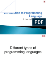 Chapter 1-Introduction to Programming Language