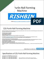 CZU Purlin Roll Forming Machine